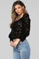 I Am All In Velvet Top - Black