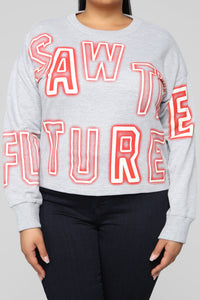 Saw The Future Glow In The Dark Sweatshirt - Heather Grey