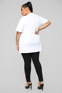 Main Bitch Tunic Top - White Angle 12