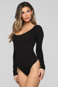 Right On Cue Bodysuit - Black Angle 1