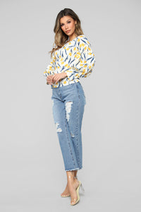 Golden Hour Floral Blouse - White/combo Angle 4