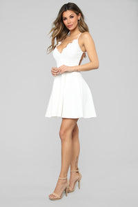Love Affair Mini Dress - White