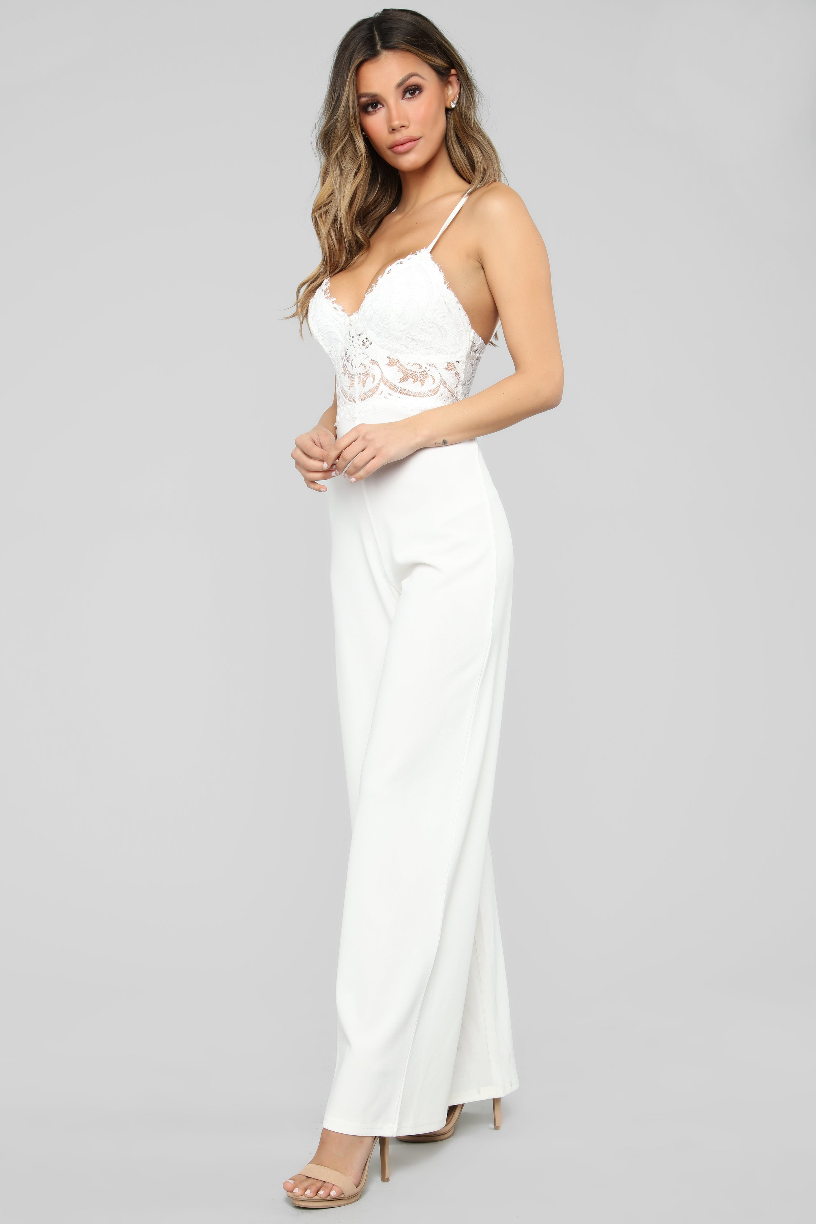 53fbf2be6f Roof Top Date Lace Jumpsuit - White