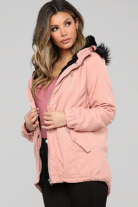 On the Prowl Hooded Jacket - Mauve