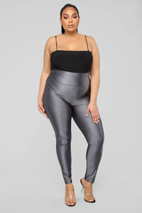 Brianne High Rise Leggings - Grey