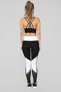 Willow Active Legging - Black/White