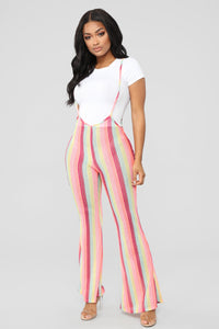 Tropical Feel Strap Pants - Neon Pink Angle 1