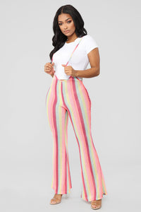 Tropical Feel Strap Pants - Neon Pink Angle 3