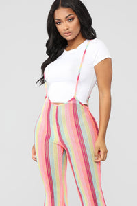 Tropical Feel Strap Pants - Neon Pink Angle 2