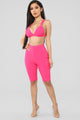 Hotter Than Hot Short Set - Hot Pink
