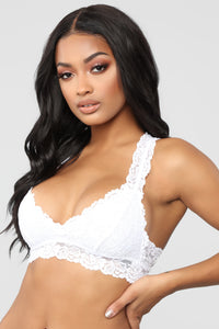Just In Lace Bralette - White Angle 3
