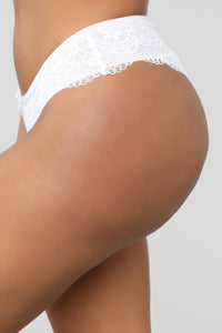 Sweet Talkin' Lace Hipster Panty - White