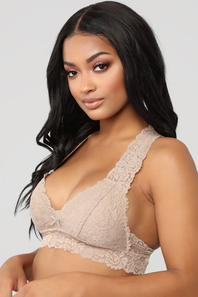 Just In Lace Bralette - Nude