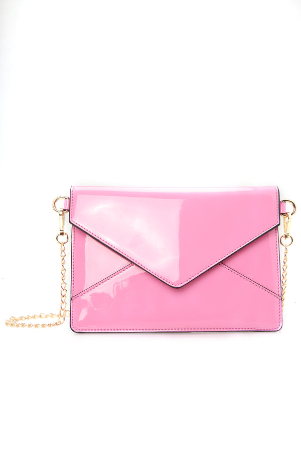 4741204c888 Do It Bright This Time Crossbody Clutch - Neon Pink