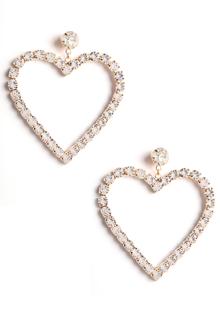 Heart For You Earrings - Gold