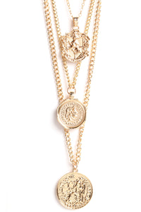 Laurayna Coin Necklace - Gold