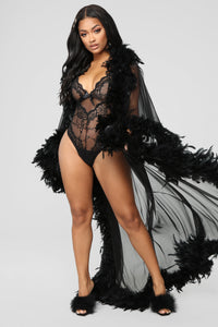 Bedroom Eyes Robe - Black