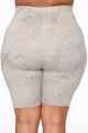 Noelle Biker Short Set - Grey