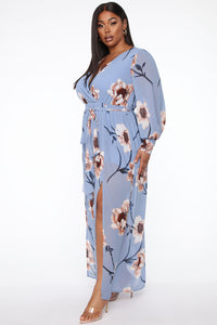 Park Avenue Maxi Dress - Light Blue Angle 8