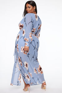 Park Avenue Maxi Dress - Light Blue Angle 6