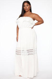 Out Of The City Tube Maxi Dress - White Angle 7