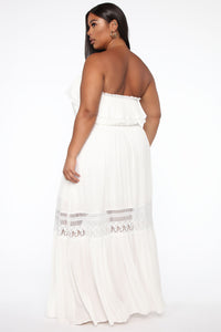 Out Of The City Tube Maxi Dress - White Angle 6
