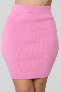 Time To Cuddle Sweater Skirt Set - Pink