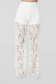 Super Excited Lace Pant Set - Off White