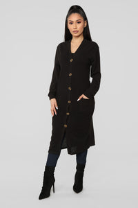 Only Me Cardigan - Black Angle 1