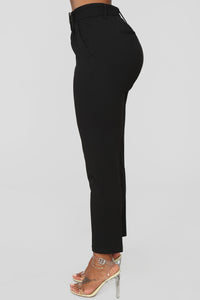 Talia Belted Pants - Black