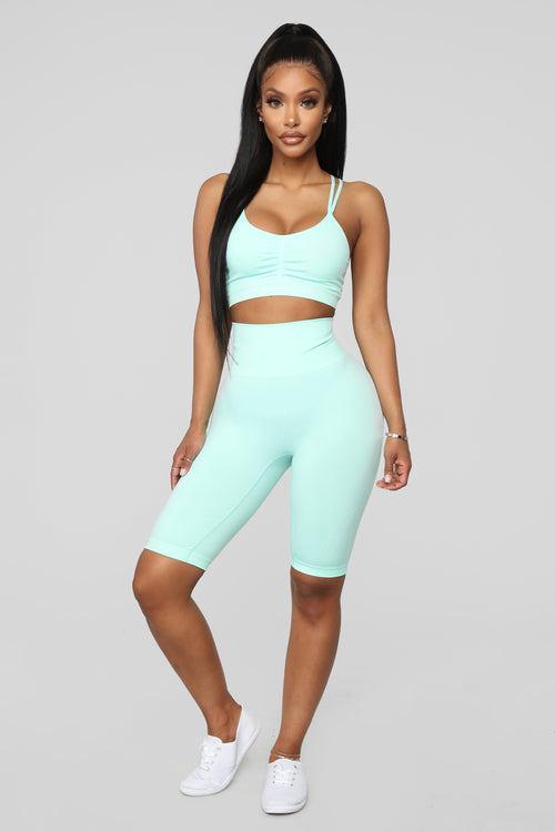 Move Along Biker Short - Mint