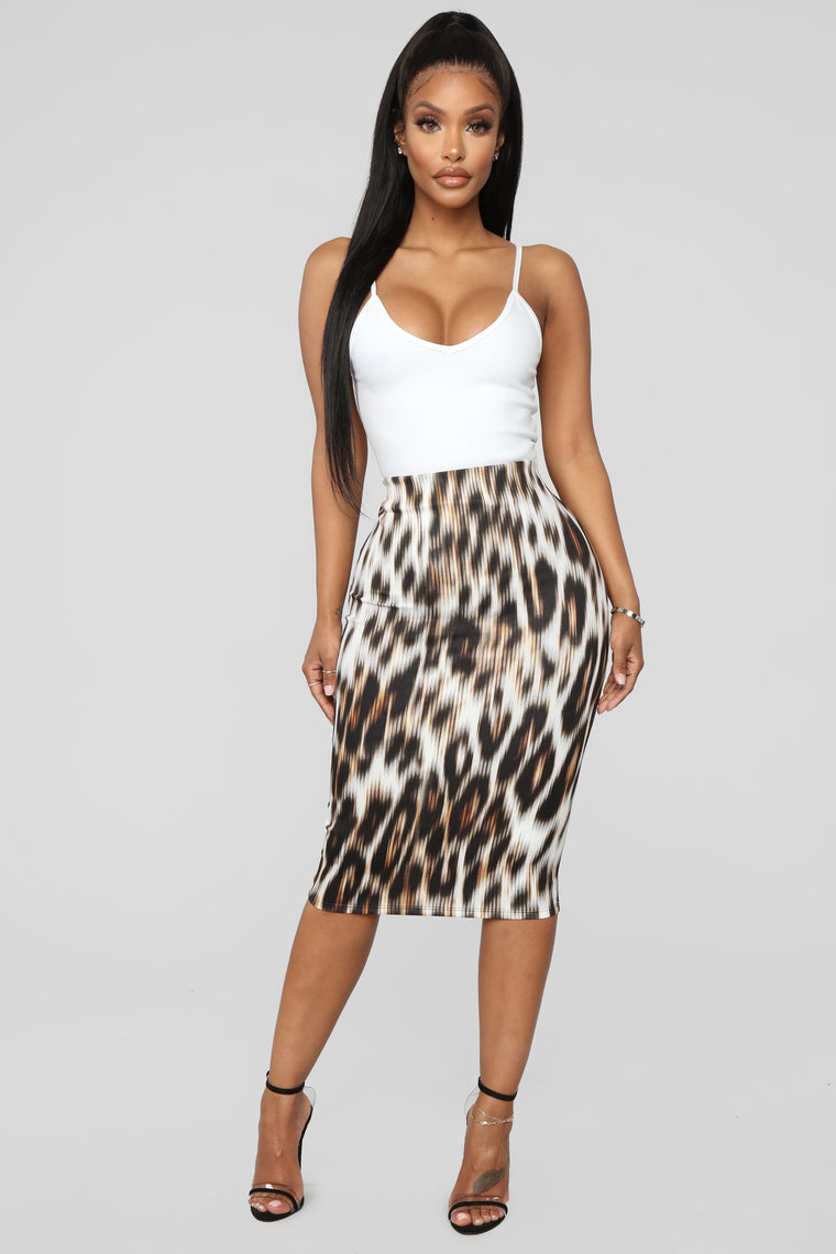 Growl's Night Out Skirt - Leopard