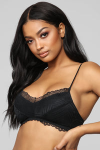 Nothing Too Strappy Bralette - Black Angle 2