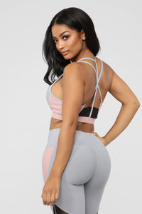 Dedicated to Fitness Sports Bra - Grey/combo