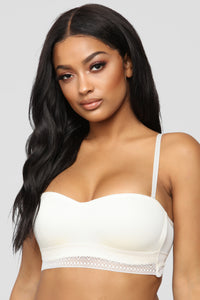 Chill Out Bandeau Bra - Ivory Angle 1