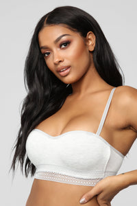 Chill Out Bandeau Bra - Heather Grey