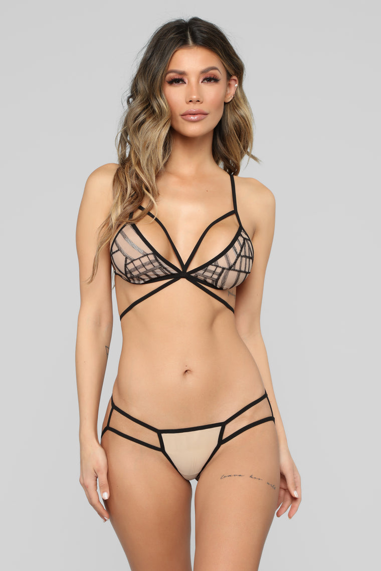 Different Type Mesh 2 Piece Set - Black