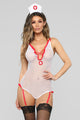 Steamy Vital Signs Fantasy Bedroom Costume - White