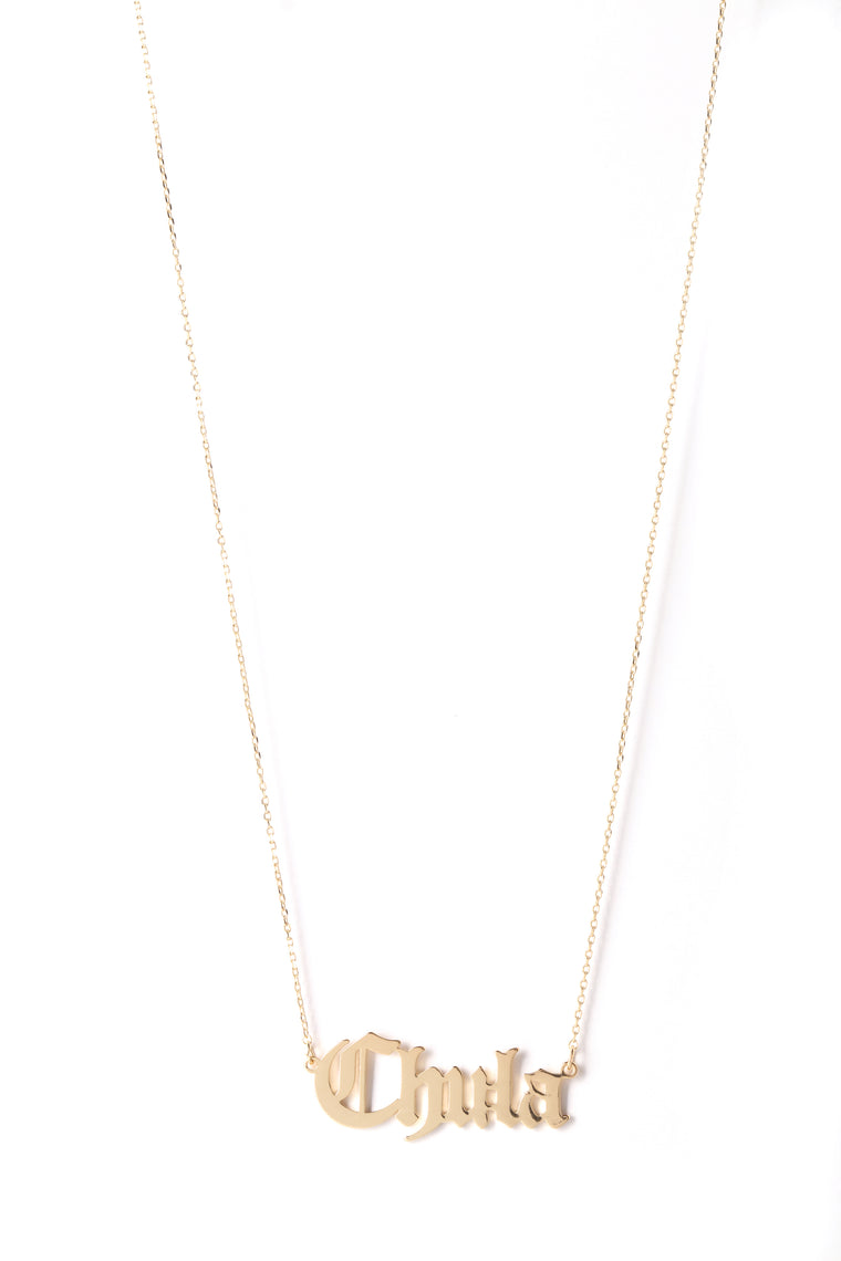 Chula Pendant Necklace - Gold