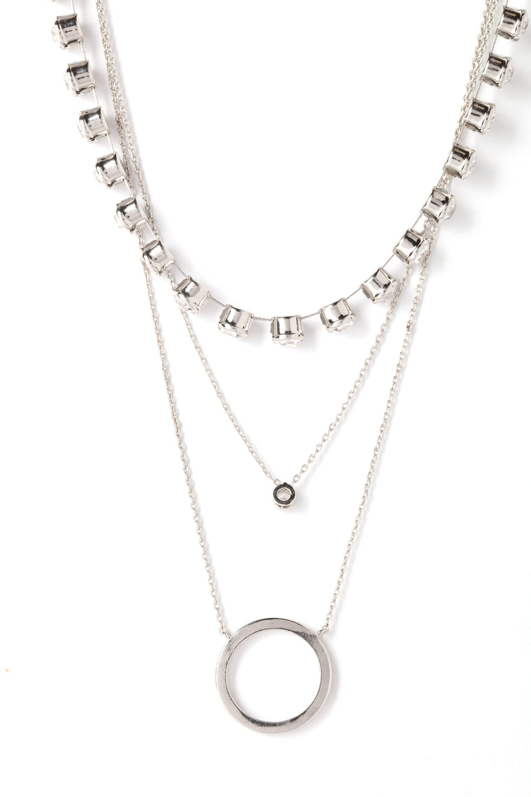 Let It Shine Layered Necklace - Silver