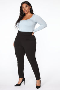 Anything But Square Long Sleeve Bodysuit - Blue