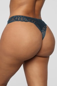 Sweet As Can Be Lace Tanga Panty - Blue Angle 3