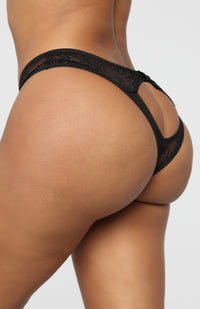 Dream Of Me Strappy Panty - Black