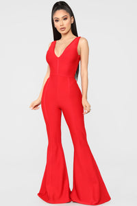 Love Of My Life Jumpsuit - Red