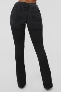 Dream Catcher Flare Jeans - Black