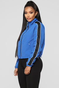 I'm Down For It Windbreaker Jacket - Blue