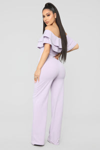 Ready To Ruffle Jumpsuit - Lavender