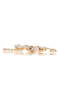 All Around Town Ring Set - Gold