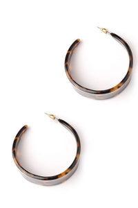 Crescent Moon Hoop Earrings - Multi