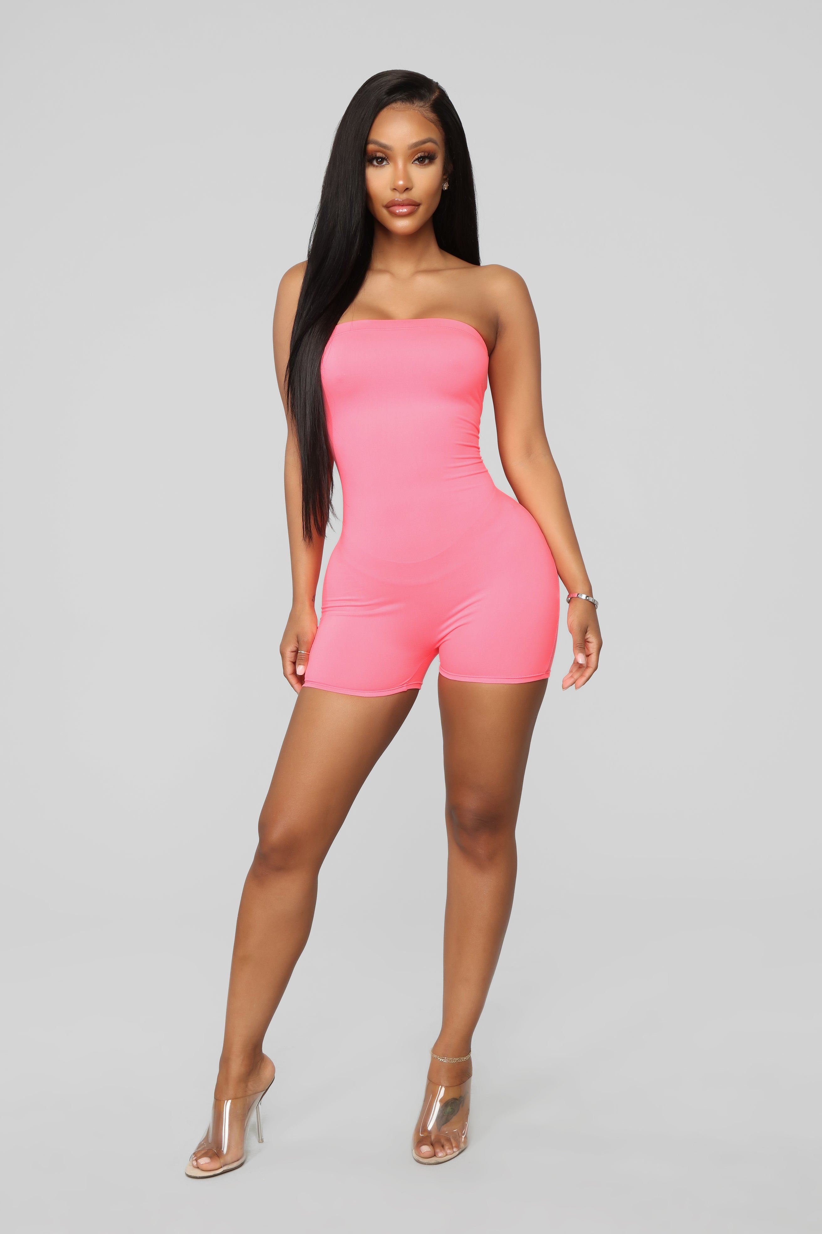 26d0a23428f782 Buenos Aires Romper - Neon Pink